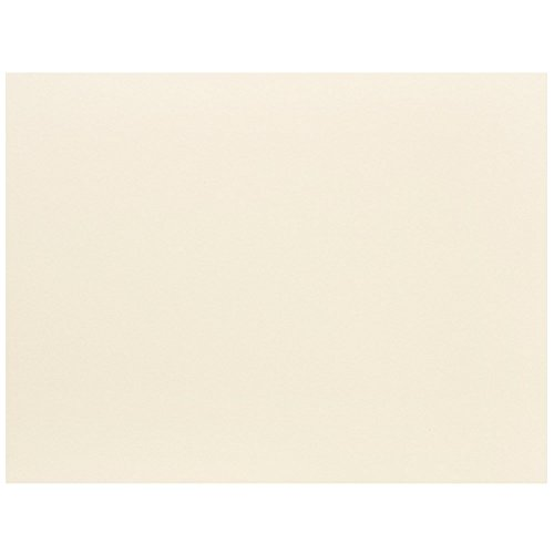 JAM PAPER Blank Flat Note Cards - 4 1/4 x 5 1/2 (Fits in A2 Envelopes) - Ivory - 100/Pack