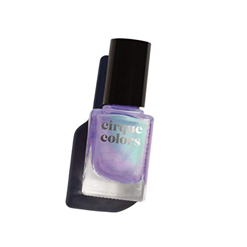 Holographic Shimmer - Cirque Colors Resort Collection - Shimmer Nail Polish - Isle of Capri - Lavender Purple - 0.37 fl. oz. (11 ml) - Vegan, Cruelty-Free, Non-Toxic Formula