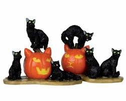 (Lemax Spooky Town Halloween Cats, Set of 2 #)