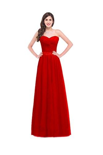Donna Ad Linea Red A Vestito Vimans n7ATBqfB