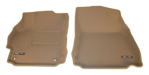 Front Weather Mat Tan (Aries HY03811502 Tan Front 3D Floor Liner - 2 Piece)