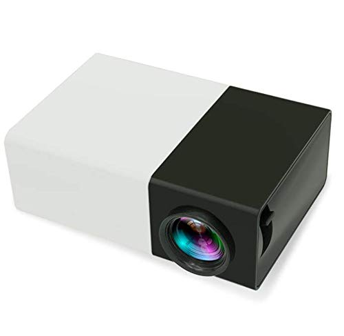 Libina Projector YG300 Mini Portable LED Handheld Projector, 320X240led HD 1080Pmultimedia Projector Ideal Home Theatre Entertainment Games Parties, -