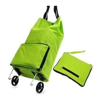 Amazon Com Collapsible Foldable Rolling Shopping Bag On