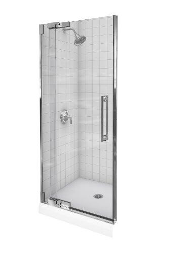 Kohler K-705712-L-SHP Purist Heavy Glass Pivot Shower Door, 30 1/4