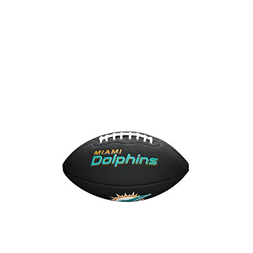 (NFL Team Logo Mini Football, Black - Miami Dolphins)
