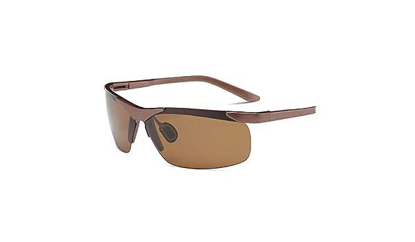 FRFG Gafas de Sol Deportivas de imitación de Aluminio y magnesio Montar Gafas polarizadas, marrón: Amazon.es: Deportes y aire libre