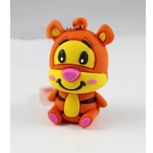 16GB Disney Tigger Shaped Cute Cartoon USB Flash Drives, Data Storage Device, USB Memory Stick Pen, Thumb Drive from LeenCore