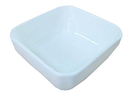 1 Dz White Porcelain Square Sauce/Side Dishes (3