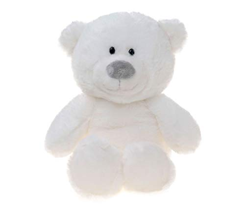 Tiktoy White Teddy Bear Plush Stuffed Animals, 8 Inches from Tiktoy