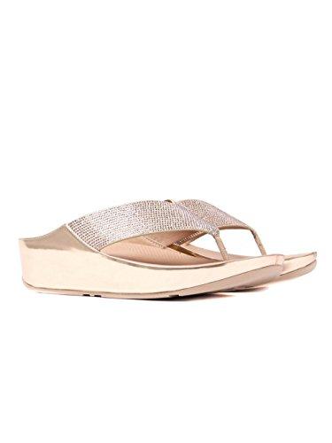 Fitflop ™ Crystall Vrouwen Fuß Bericht Sandalen Rose Goud