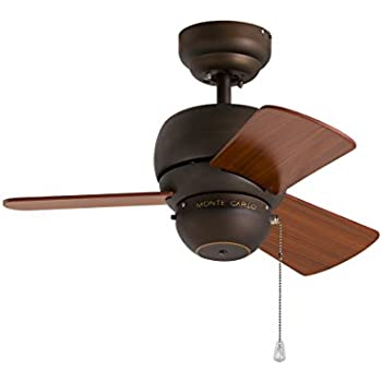 Monte Carlo 3TF24RB, Micro 24 Inch Ceiling Fan, Indoor/Outdoor, Roman Bronze