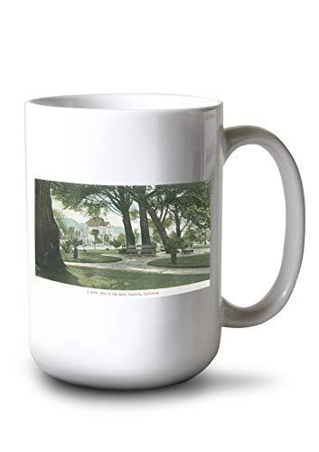 (Lantern Press Alameda, California - City Park View (15oz White Ceramic Mug))