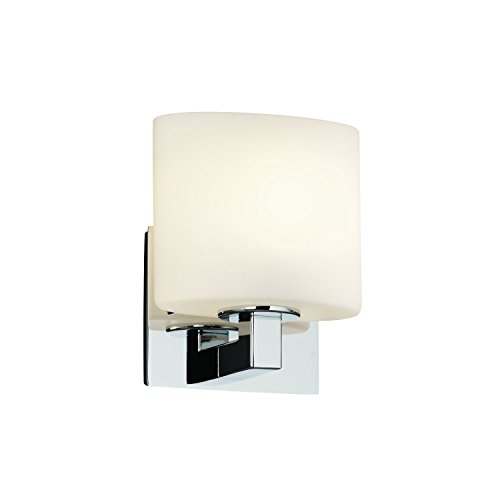 Justice Design Group FSN-8931-30-OPAL-BLKN Fusion Collection Modular 1-Light Wall Sconce (ADA)