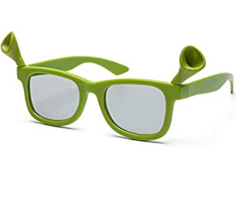 VIQILANY Round polarized Carton Style 3D Glasses Cinema for Kids - Green
