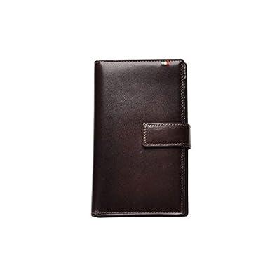 a2a46afaac2d Amazon | Milagro ミラグロ タンポナートレザー 二つ折り 長財布 ロングウォレット 30枚カード収納 イタリア製ヌメ革 チョコ  CA-S-2163-CH | ミラグロ | 財布