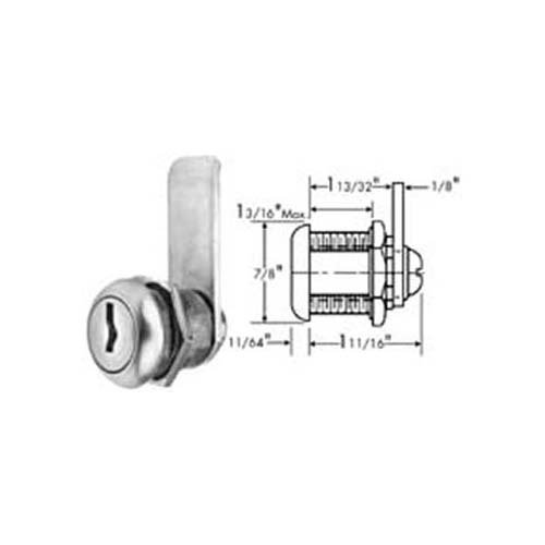 GLENCO Stainless Steel-Faced Cylinder Lock with Key 2HAL0155-001 by Glenco (Image #1)