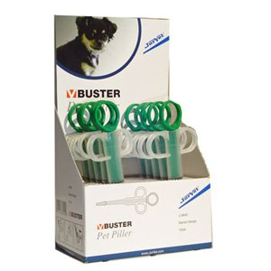 Buster Pet Piller with Soft Tip Syringe, Display Box of 10