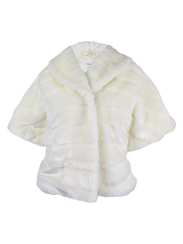 UPC 885719969196, Calvin Klein Womens Medium Faux Fur Shrug Coat