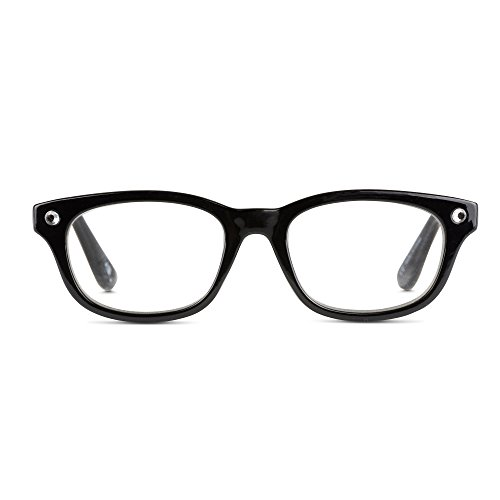 EyeSquared Reading Glasses - Premium Plastic Fashion Frames with Spring Hinge, for Men & Women of All Ages, Blingy - For Plastic Grips Frames Nose