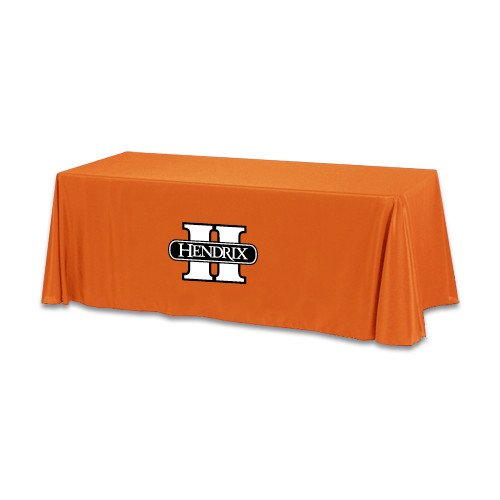 Hendrix Orange 6 foot Table Throw 'Official Logo' by CollegeFanGear