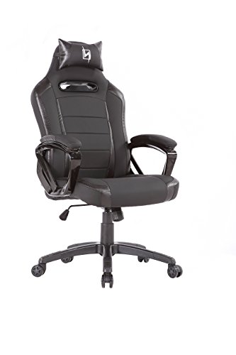 N Seat PRO 300 Series Racing Bucket Seat Office Chair Gaming Chair Ergonomic Computer Chair eSports Desk Chair Executive Chair Furniture With Pillows, 360 degrees of rotation, Black (NS-PRO300_BK) (Pro Series Saddle)