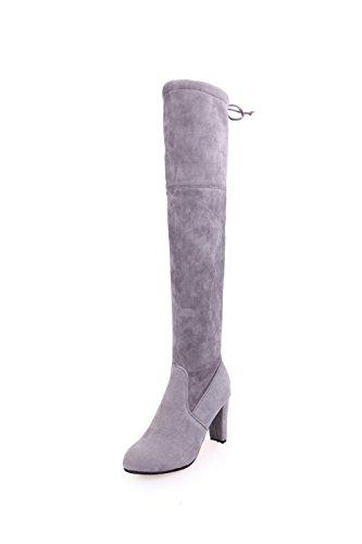KHSKX-Hochhackige Schuhe Neue Winterschuhe Weibliche Stiefel Knie Hart Mit Der Flut Thirty-eight