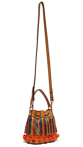 Caramel Cross Body Bag Sm MILLY Pom Drawstring CFq447