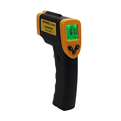Hippih Digital Laser Infrared Thermometer Non-contact IR Temperature Gun Yellow and Black (-58?~716?/-50??380?)