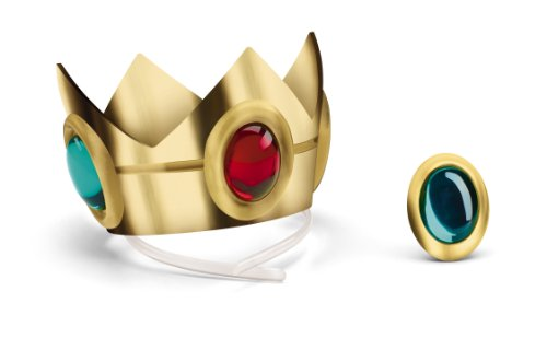 Nintendo Super Mario Brothers Princess Peach Crown and Amulet - Princess Costumes Accessories