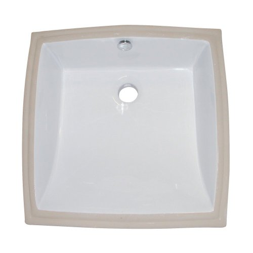 - Kingston Brass LB18187 Fauceture Cove Undermount Vitreous China Bathroom Sink, White