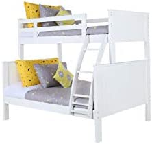 Konrad Furniture London Solid Hardwood Bunk Bed Twin Over Full
