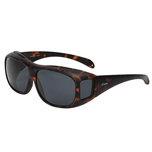 Yodo Fit Over Glasses Sunglasses with Polarized Lenses for Men and Women, Matt Leopard -