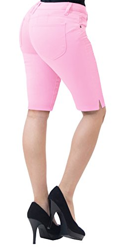 HyBrid & Company Super Comfy Stretch Bermuda Shorts B43308X Pink 22