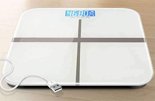 Temperature Analyzer (UNIQUE-F Weight Bathroom Scale Ultra-Thin Analyzer with Temperature Detection LCD Liquid Crystal Display Ultra-Durable Tempered Glass)