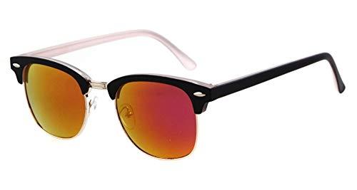 Gafas Medio A de conducción Calientes Manera sin Lujo la Mujeres de Vendimia de de Unisex KOMNY Leopardo B la de Montura Sol vidrios de Las los de Gafas Eyewears Ventas Hombres qFwY1v