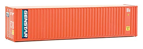 Walthers SceneMaster 40' Hi-Cube Corrugated Container w/Flat Roof Genstar - Assembled Train Collectable Train