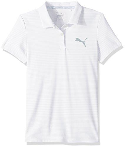 Puma Golf Teen-Girls 2018 Pounce Aston Polo, Bright White, (Puma Golf Polo Shirt)