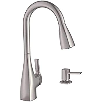 Lizzy Spot Resist Stainless 1 Handle Deck Mount Pull Down