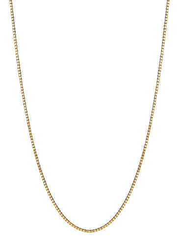 14K Solid Gold Box Chain Baby Childrens Necklace 13 (Baby Box Chain Necklace)