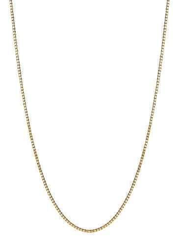 Children's 14K Solid Gold Box Chain Baby Necklace 13 (14k Baby Box)
