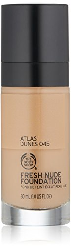 The Body Shop Fresh Nude Foundation, Shade 45 Atlas Dunes, 1 Fluid Ounce