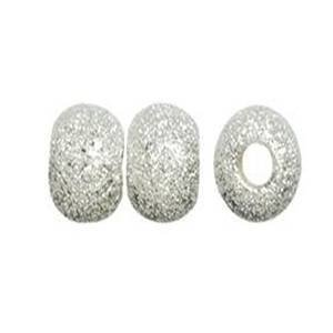 Beautiful Bead 6mm Silver Plated Stardust Sparkle Round Beads for Bracelets DIY Jewelry Making (About 100pcs )