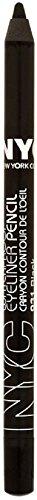 New York Color Waterproof Eyeliner Pencil, Black [931] 1 ea (Pack of 7) by Nyc