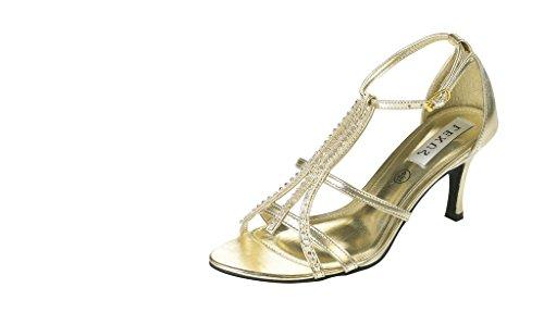 P LEXUS Gold U femme Sandales pour Or qRTRXfw