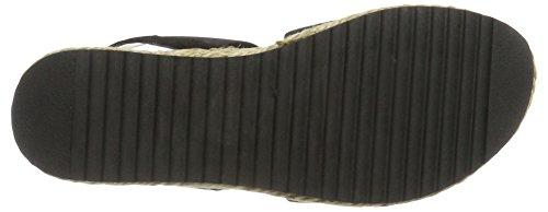 musta Sandale Elastik 49301 Korkokengät Naisten Bianco Musta 10 21 Sandaalit 16qxw58