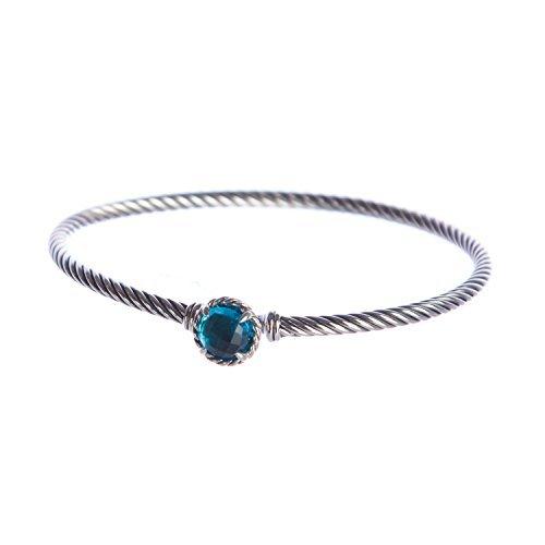 David Yurman Women's Chatelaine Bracelet (Blue Topaz) -