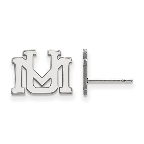 NCAA 10k White Gold University of Montana XS Post Earrings by LogoArt