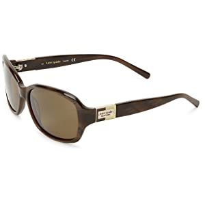Kate Spade Anniks Rectangular Sunglasses,Brown Horn,56 mm