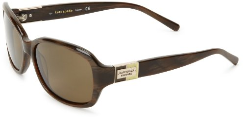 Kate Spade Anniks Rectangular Sunglasses,Brown Horn,56 (Designer Prescription Sunglasses)