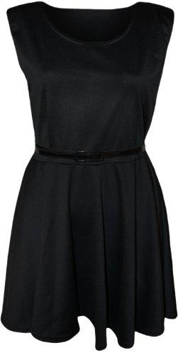 Robe Patineuse Ordinaire De Bonbons Fille Vêtements Ceinturé Noir